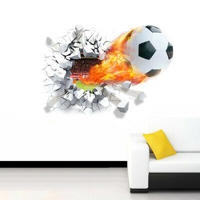 Designed Wall Sticker Style Home Household Football Background Decoration