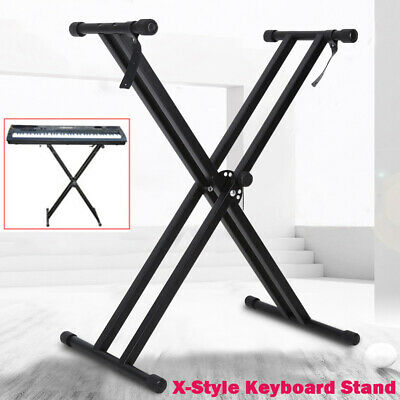 Portable X Keyboard Stand Double Braced Music Electric Organ Holder Adjustable