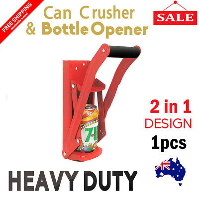Can Crusher Beer Soda Smasher Aluminium Recycling Cans Bottle Opener Crush Tool