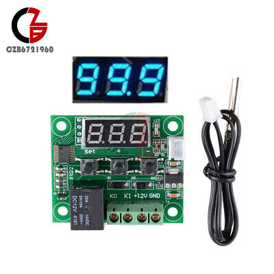 Blue DC 12V W1209 Digital Thermostat Temperature Control Switch Sensor -50-110°C