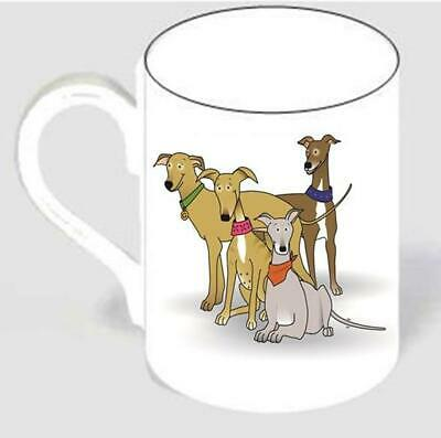 Cartoon greyhound galgo lurcher mug