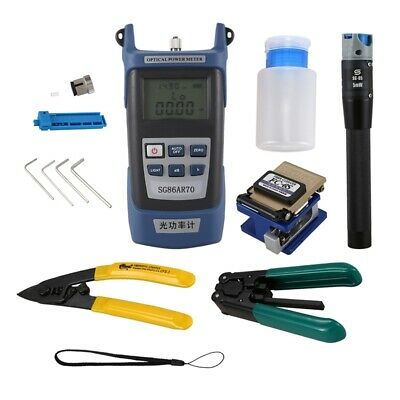 For Fc-6S Fiber Optic Ftth Tool Kit Fiber And Aua-60S Fiber Cleaver Optical B5Q6