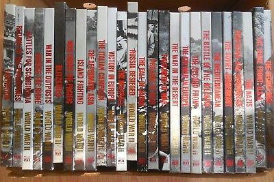 Lot Of 26 Hardcover Vintage Time Life Books World War II WW2 Collectible 1980's