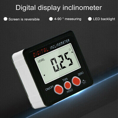 Cube 90° Slanting Digital Protractor Angle Meter Electronic Level Inclinometer