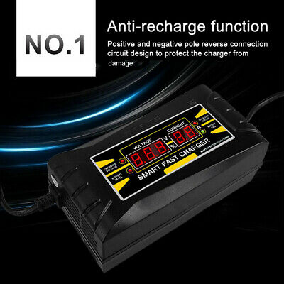 FT Full Automatic Smart 12V 6A Lead Acid/GEL Battery Charger with LCD Display