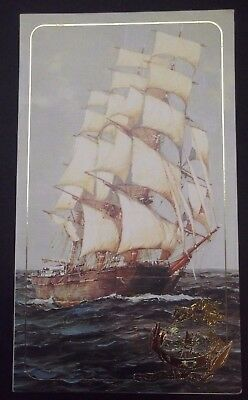 Greece Folded Christmas Greeting Card With Thema: Ship Griechenland Grecia Grece