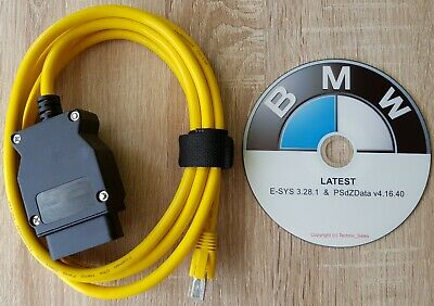 Ethernet to OBD Interface Cable ICOM ISTA Coding F-series for BMW ENET 2M