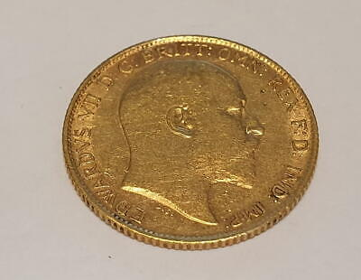 Großbritannien Edward VII 1/2 Half Sovereign Goldmünze 1909 London Mint