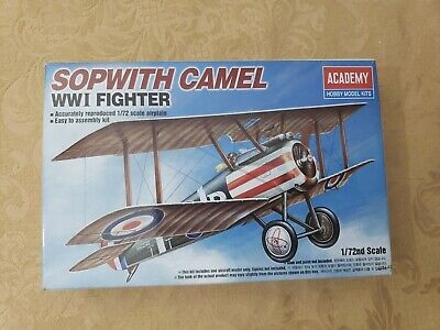 Academy Sopwith Camel WWI RAF Fighter - Plastic Model Airplane Kit - 1/72 Scale