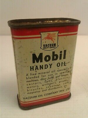 Vintage Vacuum Mobil Handy Oil tin 4 fluid Ozs