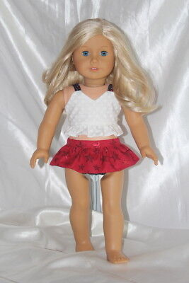 Patriotic Swimsuit fits 18inch American Girl Doll Clothes Lot Dress Bathing Suit
