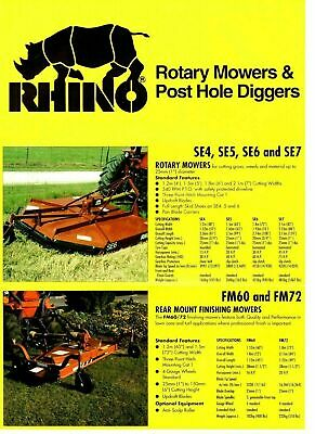 RHINO TW96 ROTARY Mower Parts Manual Very Good - $9 95 | PicClick