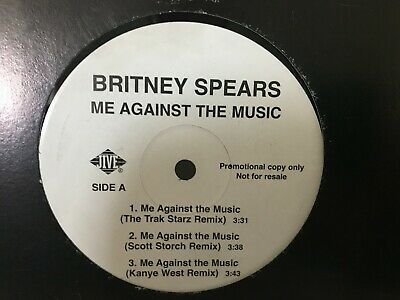 "Britney Spears, Me Against The music 12"" Maxi Promo. Jive.Electronic, Hip Hop."