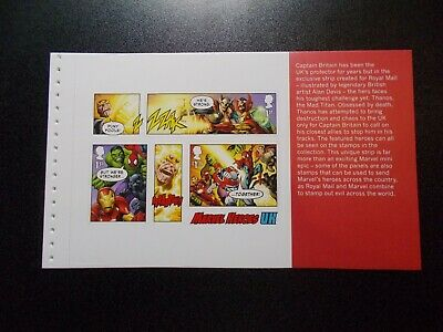 GB 2019~Marvel Comics~Prestige Stamp Booklet Pane~4~ex DY29~UK Seller
