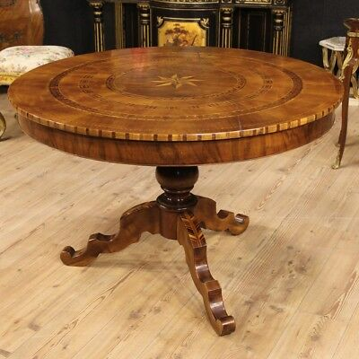 Table Italian Inlaid with Accents Xx Antique Style 900 Hall Living Room