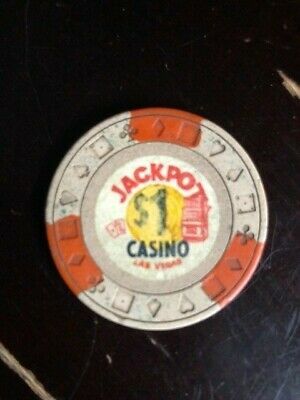 VINTAGE Jackpot Casino Las Vegas $1 WELL USED OBSOLETE
