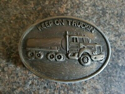 Keep On Truckin American Belt Buckle - Good condition!