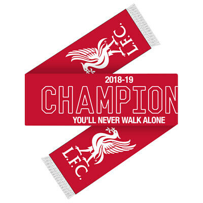 Official Liverpool Football Club Champions 2018/19 You'll Never Walk Alone Scarf