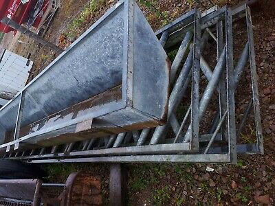 4 X Cattle Feeder Bars/rails/ Barriers15ft + one feed trough.