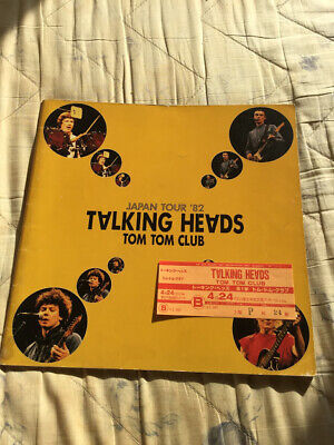 Talking Heads Japan tour book 1982 Tom Tom Club David Byrne Once in a Lifetime