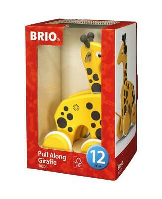 Pull Pull Along Wooden Toy - Giraffe - BRIO Free Shipping!