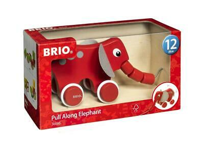 Pull Pull Along Wooden Toy - Elephant - BRIO Free Shipping!