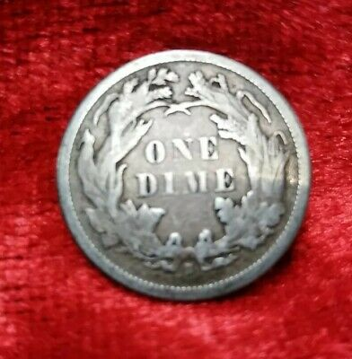 1872 United States One Dime 10 Cents S mint