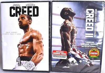 CREED I & CREED II with Michael Jordan & Sylvester Stallone (DVD) >NEW<