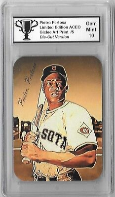 Willie Mays Limited Edition Aceo Giclee Artist Signed Art Print Card