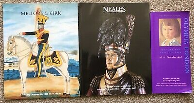 Lot of 3 Old Auction / Antiques Fair Catalogues 1990's Olympia Neales Mellors