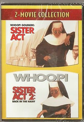 2-Movie Sister Act 1 & 2 - DVD Double Feature Whoopi Goldberg BRAND NEW