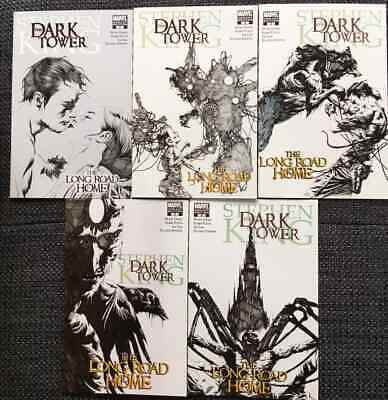 Dark Tower: The Long Road Home #1-5 Variant Pencil Covers (Marvel 2008) NM