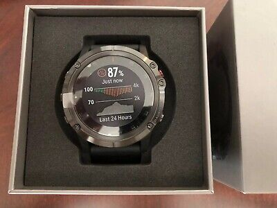 Garmin Fenix 5X Plus 51mm Sapphire Multisport GPS Watch Black Band SHIPS FAST