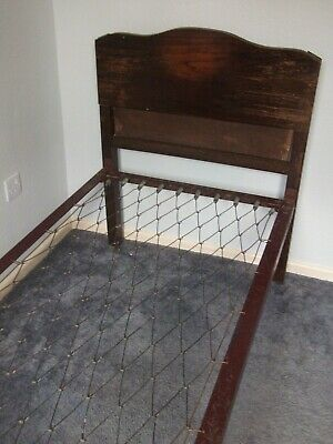 "Retro,Vintage, Pre-1940's, 2'6""Single Bedstead with Headboard and Footboard"