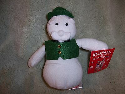 """Rudolph the Red Nose Reindeer Sam the Snowman Plush 6.5/"""" H Prestige Toy Corp"""