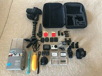 GoPro HERO 3+ Silver Edition + Accessories 16GB SD CARD, LCD TOUCH BACPAC & MORE