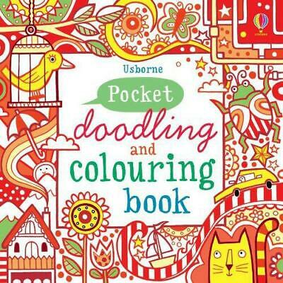 Pocket Doodling and Colouring Book: Red Book (Usborne Art Ideas), Very Good Cond