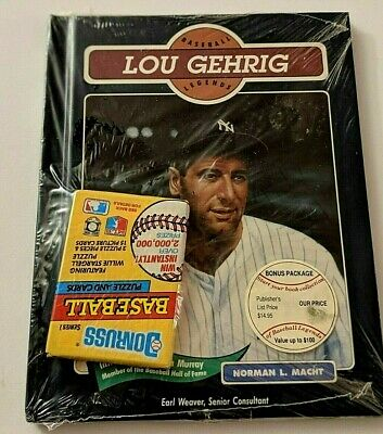 Baseball Legends book Lou Gehrig by Norman L. Macht  NEW w/bonus baseball cards