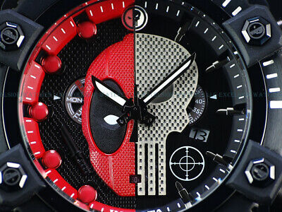 NEW Invicta Reserve Grand Arsenal Marvel Hybrid Punisher Deadpool SS Swiss Watch