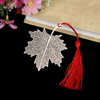 Creative golden hollow maple leaf metal bookmark stationery bookmark book cli Bq