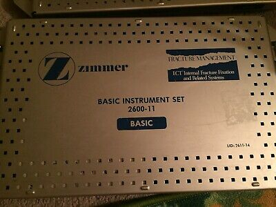 Zimmer Surgical Orthopedic Basic Instrument  2600-11 Case / Set Used.
