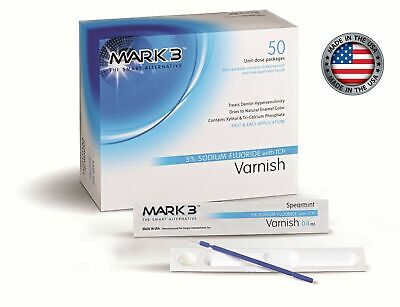 Dental Varnish 5% Sodium Fluoride Unit-Dose Package 50/Pk Primo Made in USA