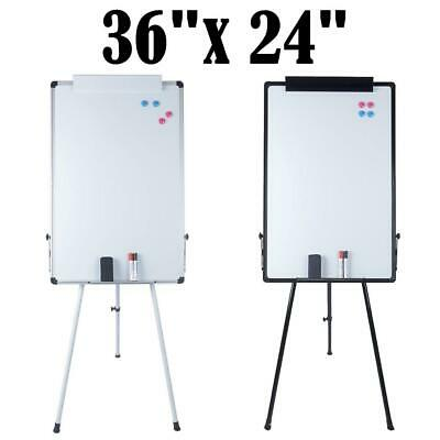 "36""x24""Magnetic Dry Erase Whiteboard with  Adjustable Tripod Stand Display"