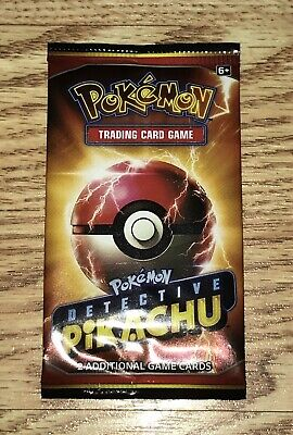 Unopened Detective Pikachu Movie Promo Pokemon Card Pack Ultra Rare Mint Booster