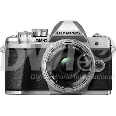 Olympus E-M10 Mark III OM-D Body with 14-42mm EZ lens Digital Cameras - Silver