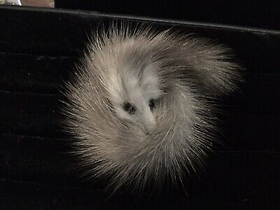 Vintage Fox Fur Handmade Brooch. From Deceased Estate