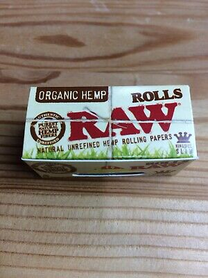 Raw Organic Hemp Rolling Paper - King size 5 Meter Roll Chlorine & Chemical Free