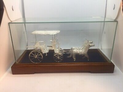 1960-70s Sterling Silver Horse and Buggy EUC