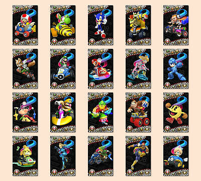 20PCS NFC Game Cards For Nintendo Switch Mario Kart 8 with Leather Case