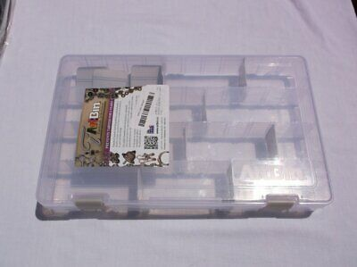 Artbin 4 Compartment Silver Tarnish Inhibitor Approx 14X9X2 Translucent Clear